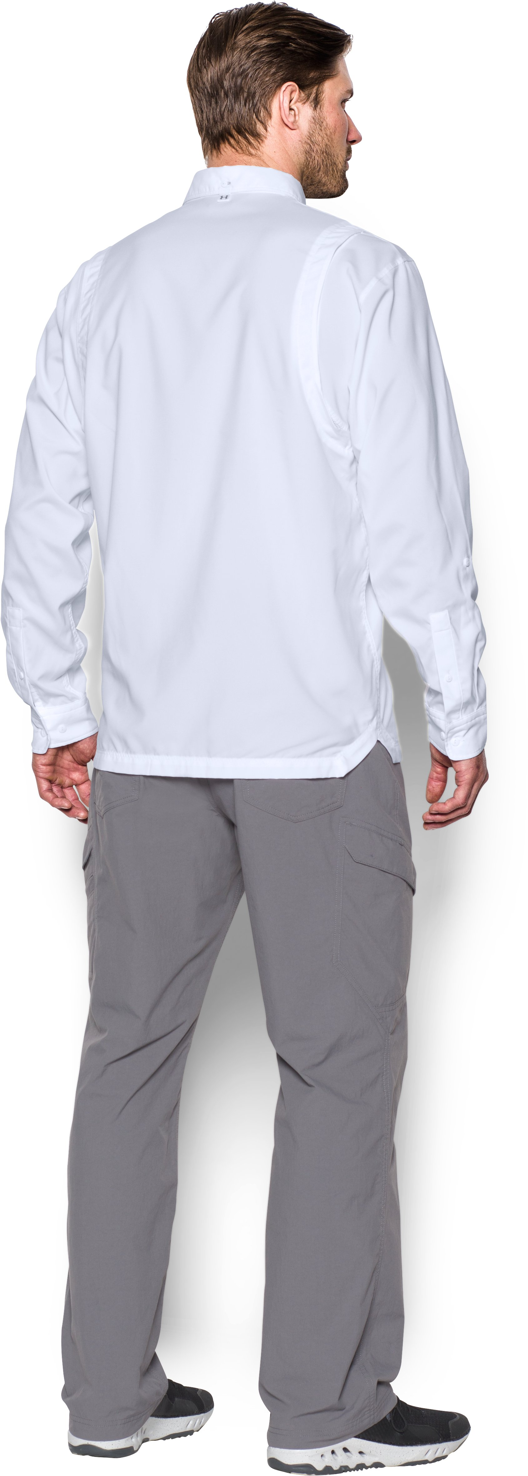 Men's UA Tide Chaser Long Sleeve, White, Back