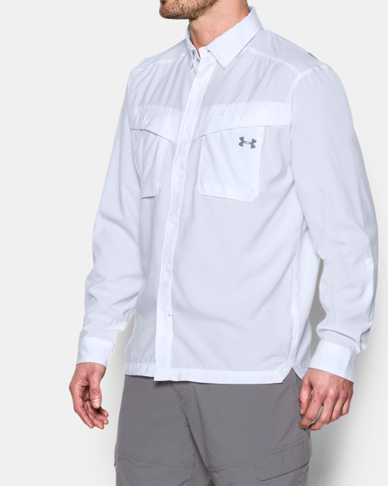 Men's UA Tide Chaser Long Sleeve, White, pdpMainDesktop image number 1