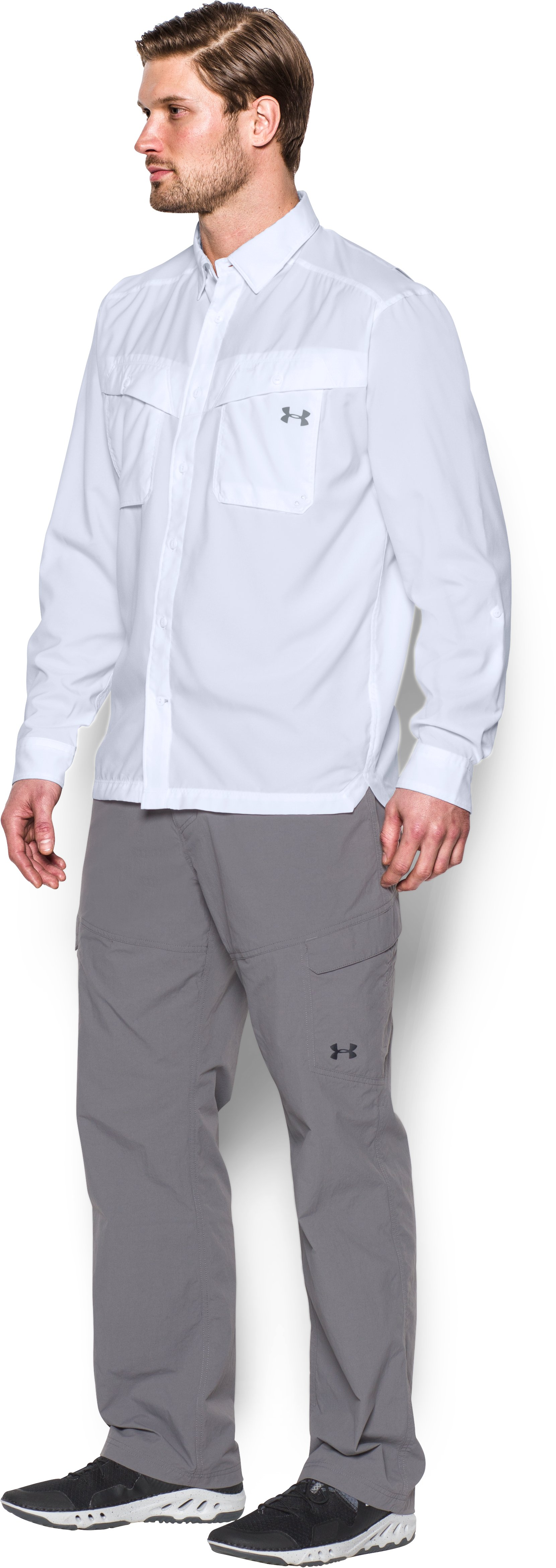 Men's UA Tide Chaser Long Sleeve, White