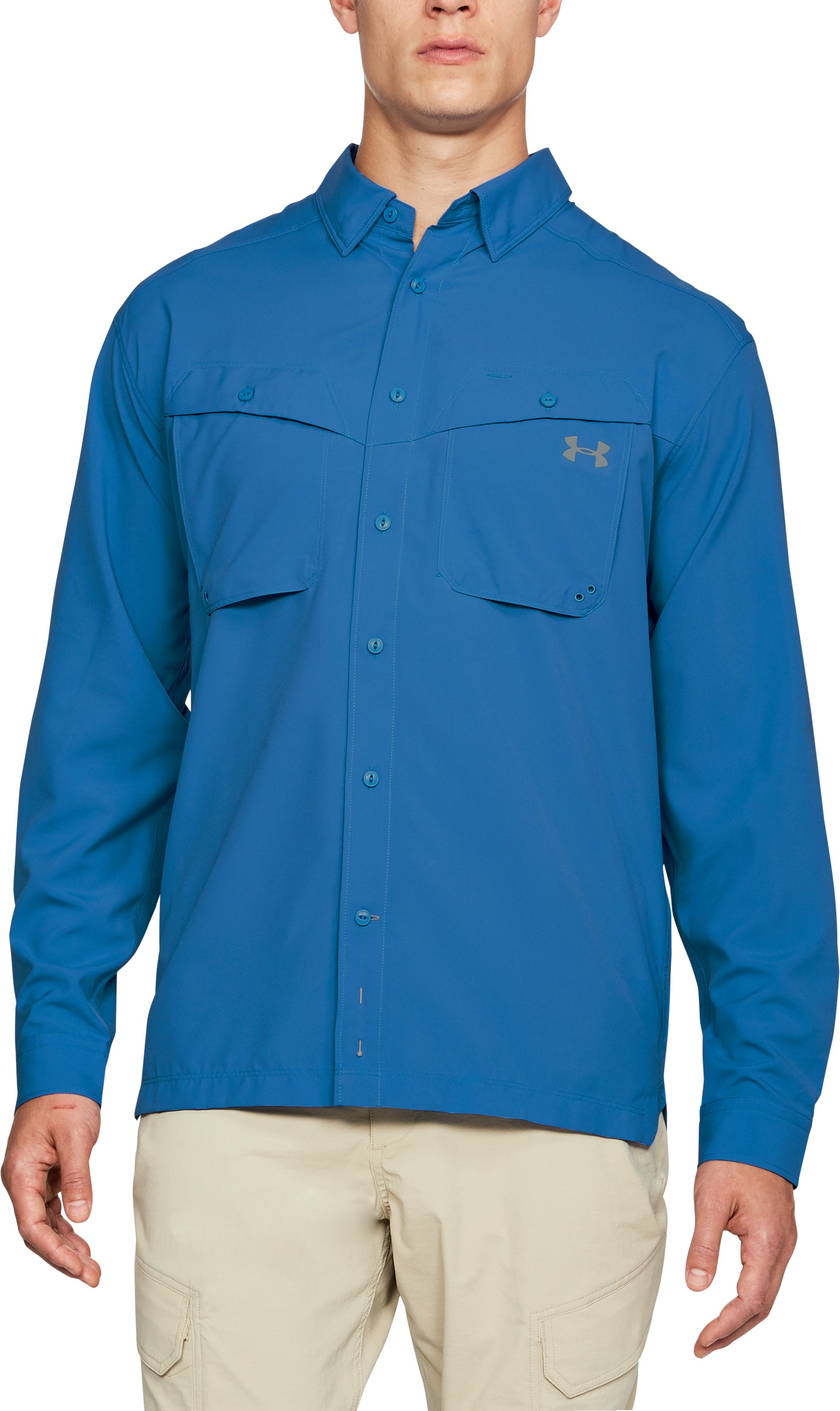 Men's UA Tide Chaser Long Sleeve, Mediterranean