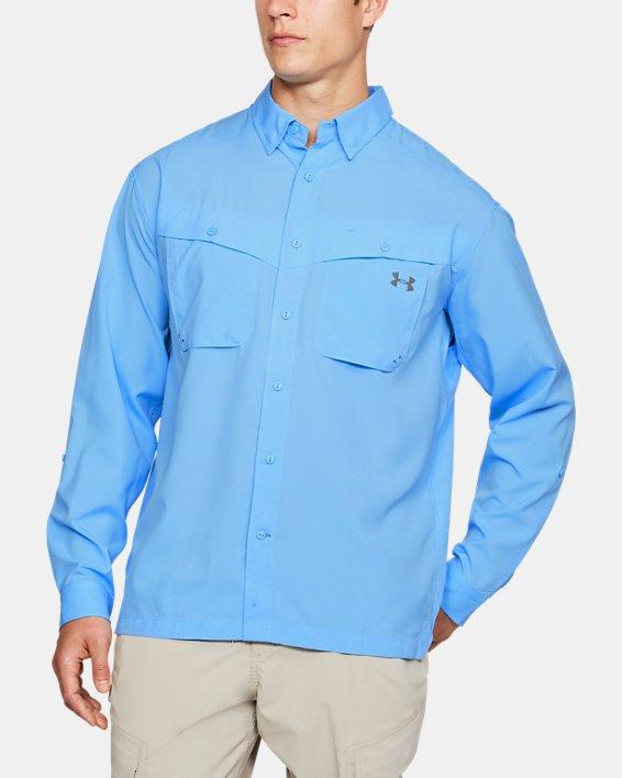 Men's UA Tide Chaser Long Sleeve, Blue, pdpMainDesktop image number 0