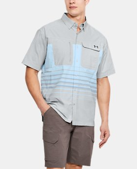 Men's UA Fish Hunter Plaid Short Sleeve  3  Colors Available $48.74