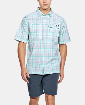 Men's UA Fish Hunter Plaid Short Sleeve  3 Colors $64.99
