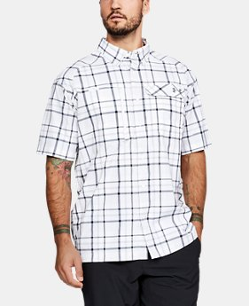 Men's UA Fish Hunter Plaid Short Sleeve  3  Colors Available $64.99