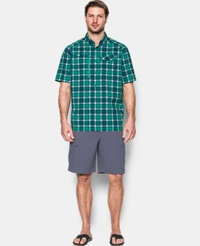 Men's UA Fish Hunter Plaid Short Sleeve  1 Color $74.99