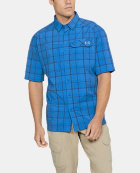 Men's UA Fish Hunter Plaid Short Sleeve  1 Color $64.99