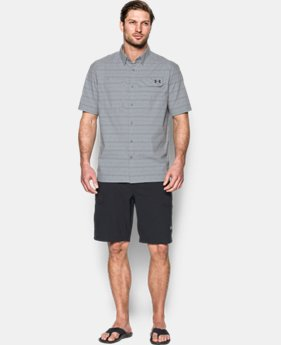 Men's UA Fish Hunter Plaid Short Sleeve  1 Color $36.74