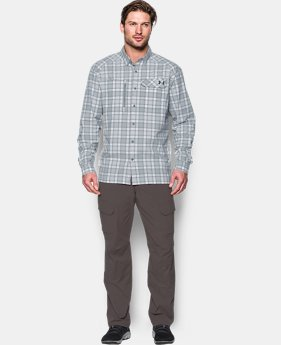Men's UA Fish Hunter Plaid Long Sleeve  1 Color $63.99