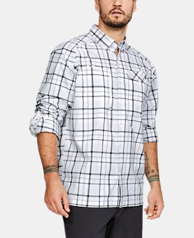 Men's UA Fish Hunter Plaid Long Sleeve  1  Color Available $74.99
