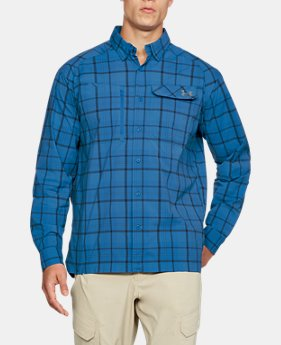 Men's UA Fish Hunter Plaid Long Sleeve  1  Color Available $56.24
