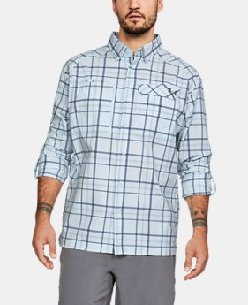 Men's UA Fish Hunter Plaid Long Sleeve  4  Colors Available $84.99