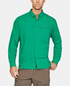 Men's UA Fish Hunter Plaid Long Sleeve  1 Color $74.99