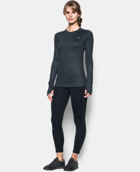Women's UA ColdGear® Armour Graphic Crew  1 Color $54.99