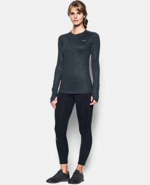 Women's UA ColdGear® Armour Graphic Crew LIMITED TIME: FREE SHIPPING 1 Color $48.74