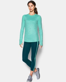 Women's UA ColdGear® Armour Graphic Crew  1 Color $31.99