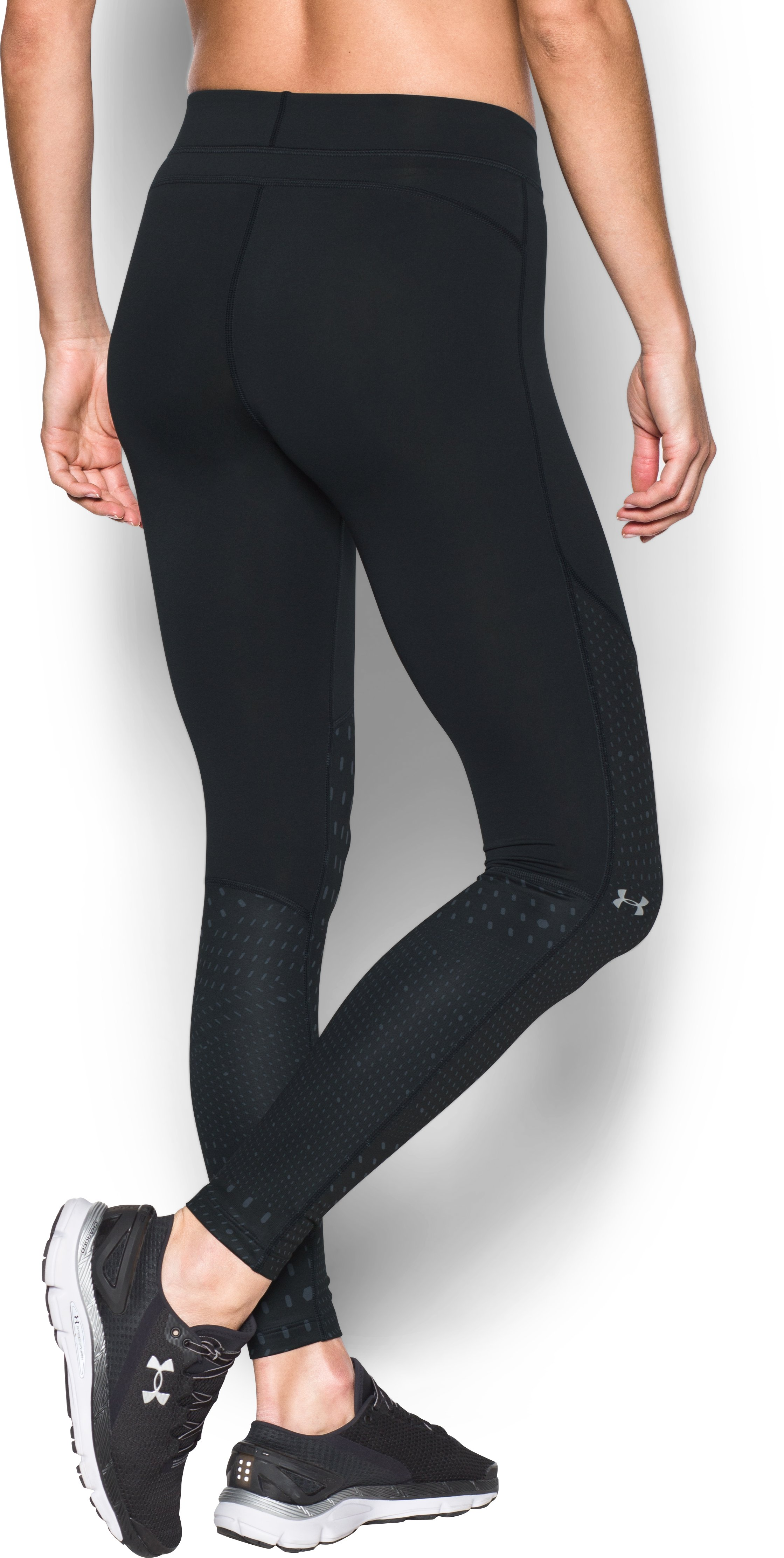 Women's UA ColdGear® Armour Graphic Leggings, Black , undefined