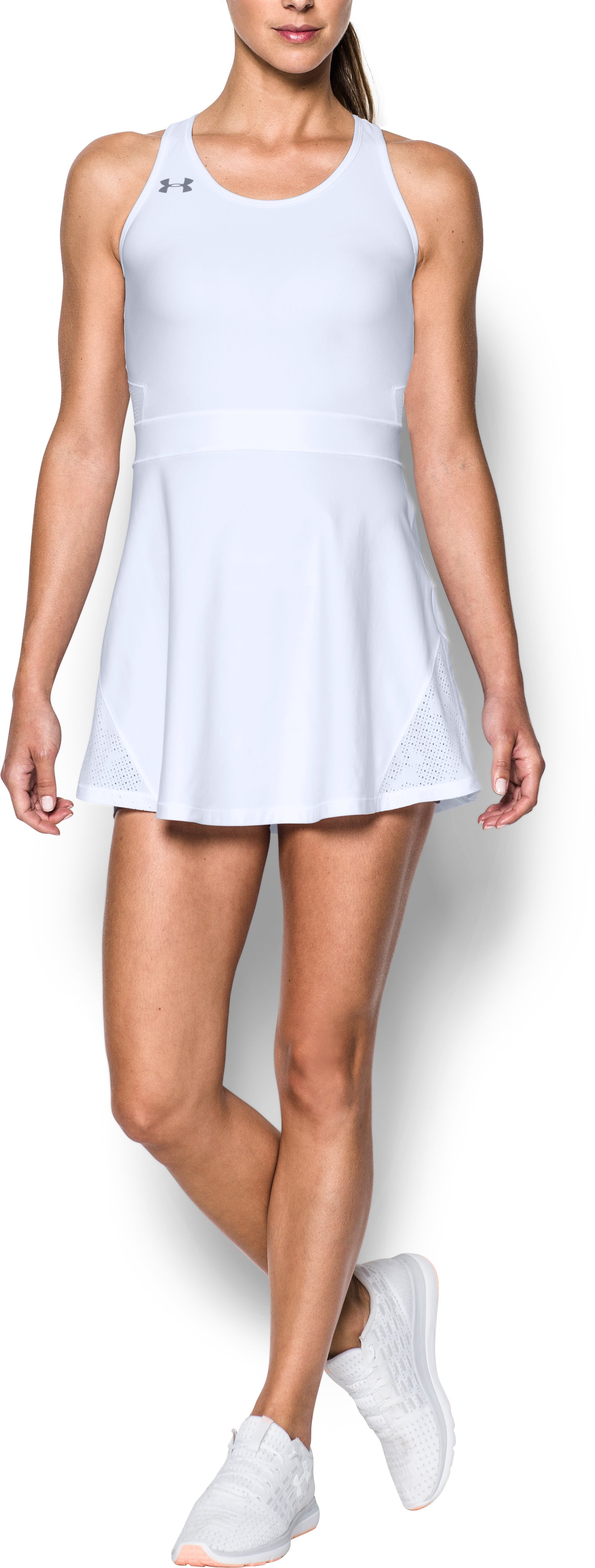 Women's UA Tennis Center Court Dress, White, Front