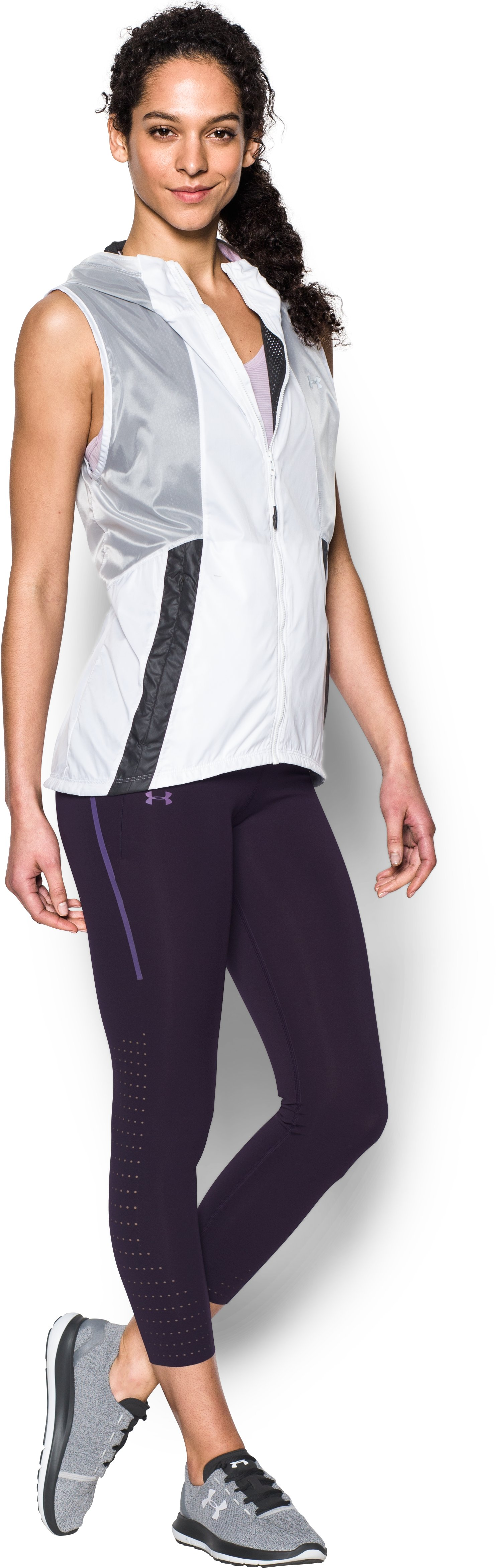 Women's UA Accelerate Engineered Crop, IMPERIAL PURPLE, Front