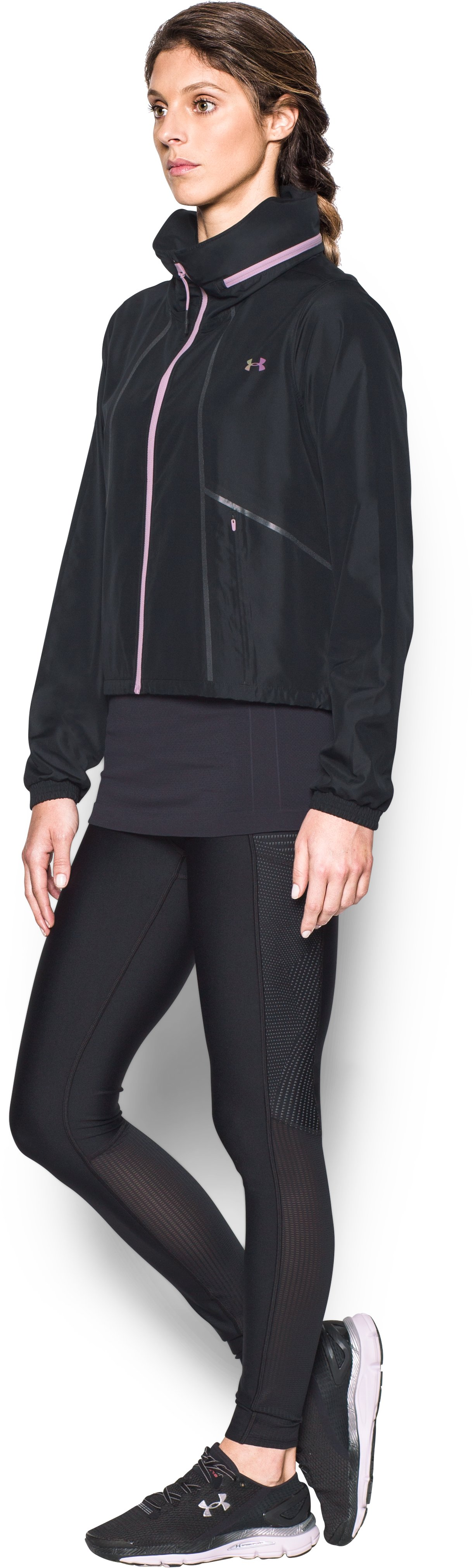 Women's UA Accelerate Packable Jacket, Black ,