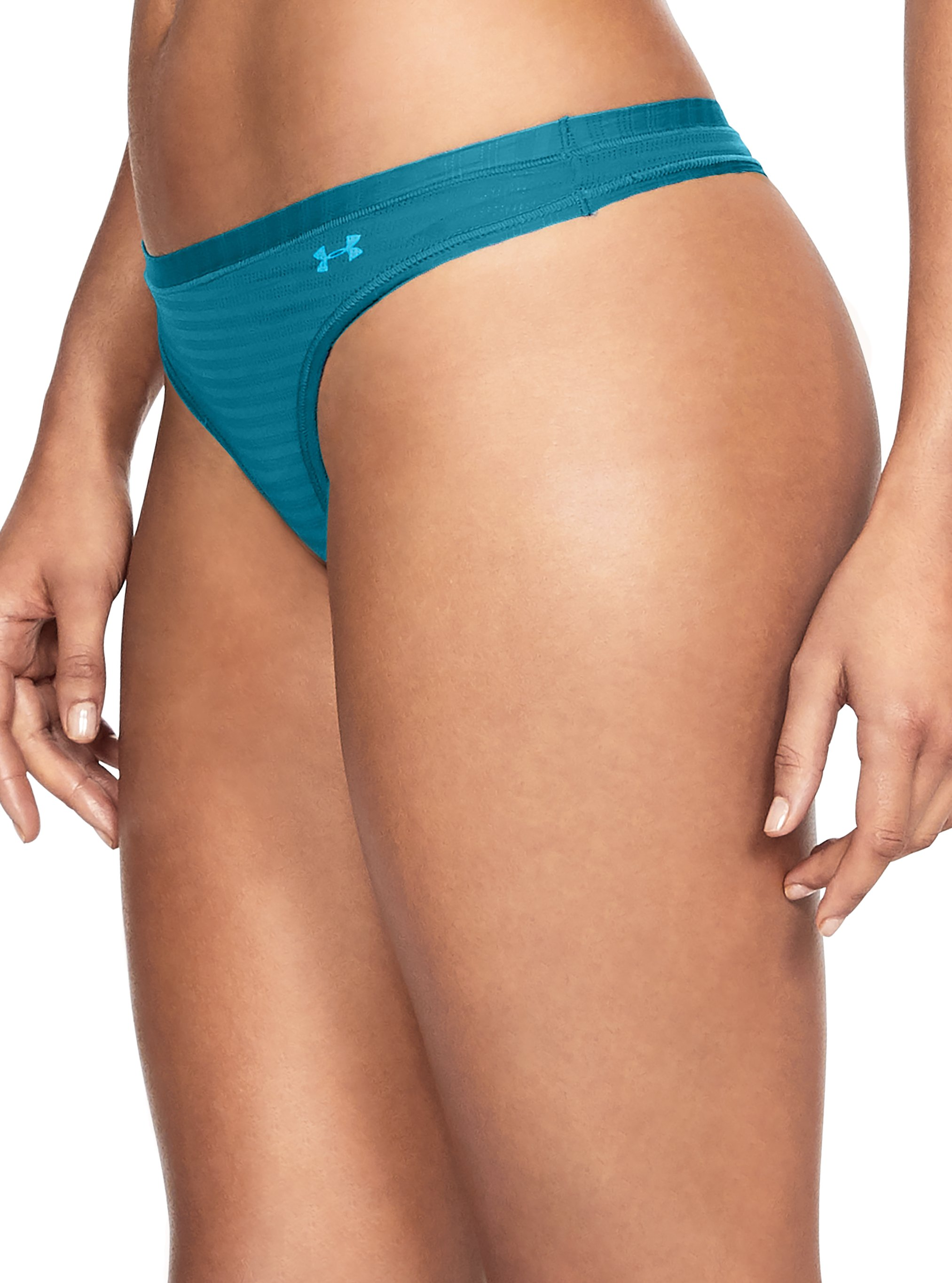 Women's UA Pure Stretch - Sheer Thong, BAYOU BLUE, undefined
