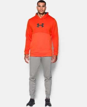 New Arrival Men's UA Storm Armour® Fleece Logo Twist Hoodie  1 Color $59.99