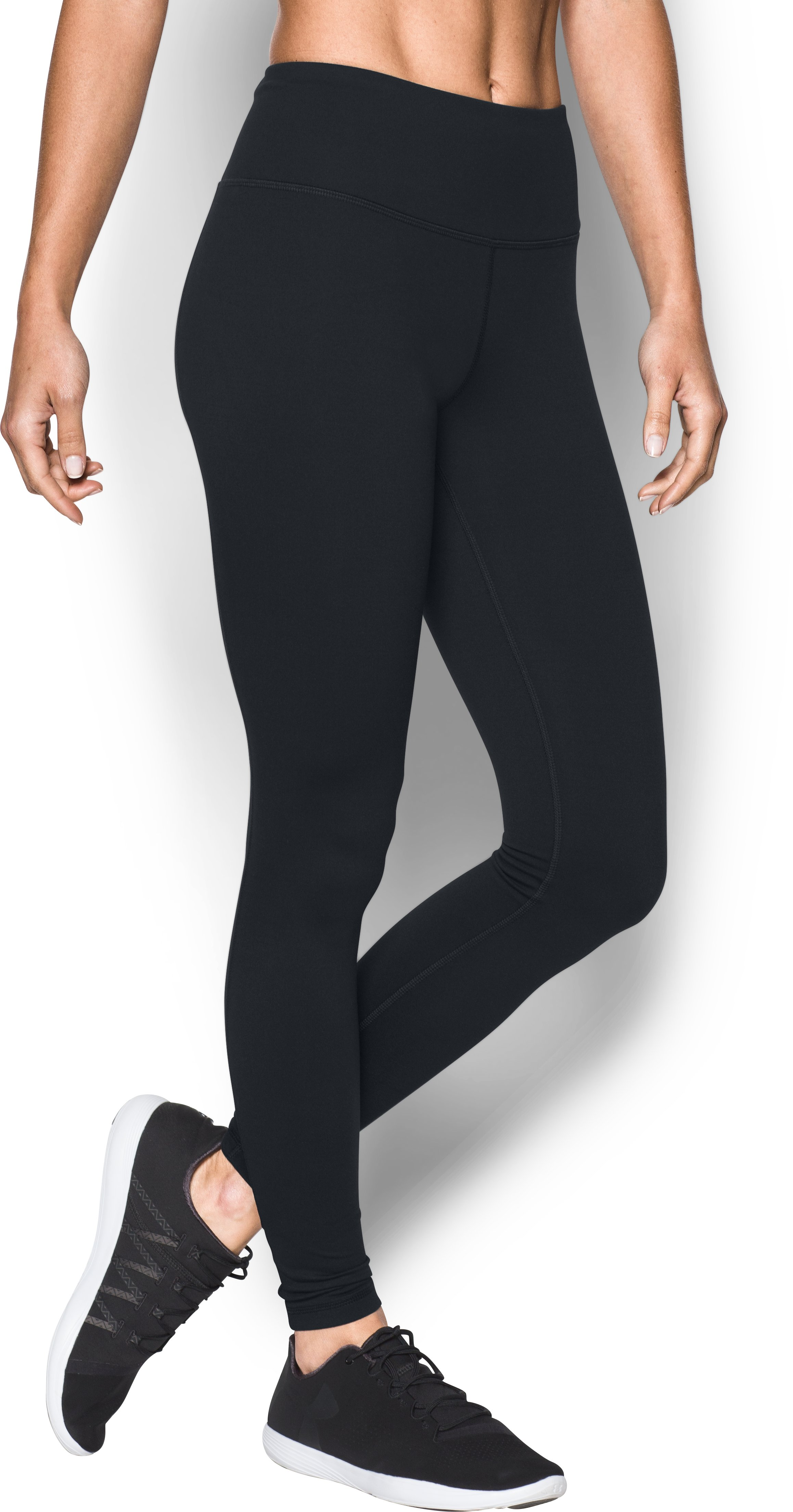 Women's UA Mirror Hi-Rise Leggings, Black ,