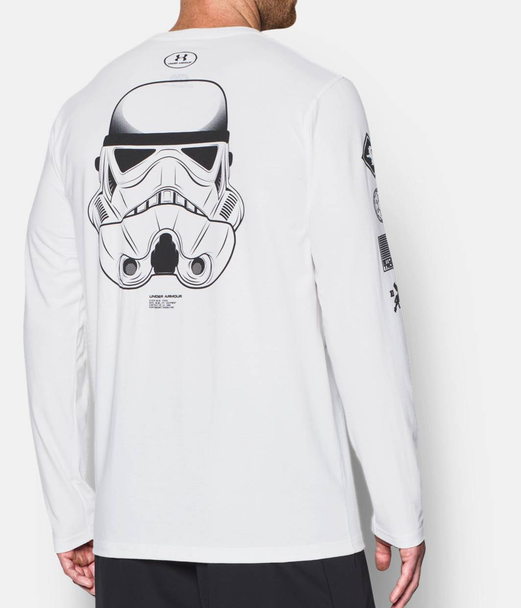 Looking For Online Boys VII Stormtrooper Helmet White Long Sleeve Sweatshirt Star Wars Big Discount Cheap Online Buy Cheap 2018 Unisex mZacBPvhB1