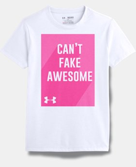 Girls' UA Can't Fake Awesome Short Sleeve T-Shirt