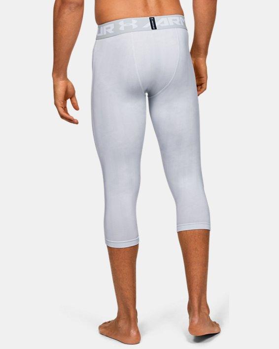 Men's HeatGear® Armour ¾ Leggings, Gray, pdpMainDesktop image number 2