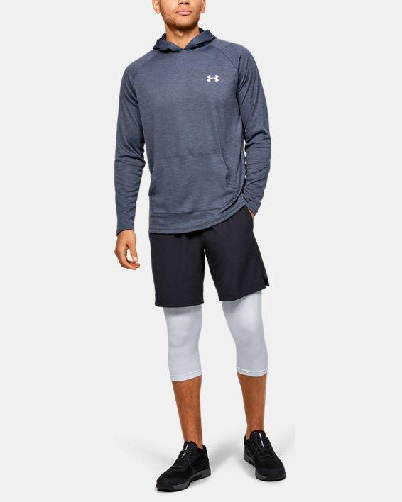 Men's HeatGear® Armour ¾ Leggings, Gray, pdpMainDesktop image number 1