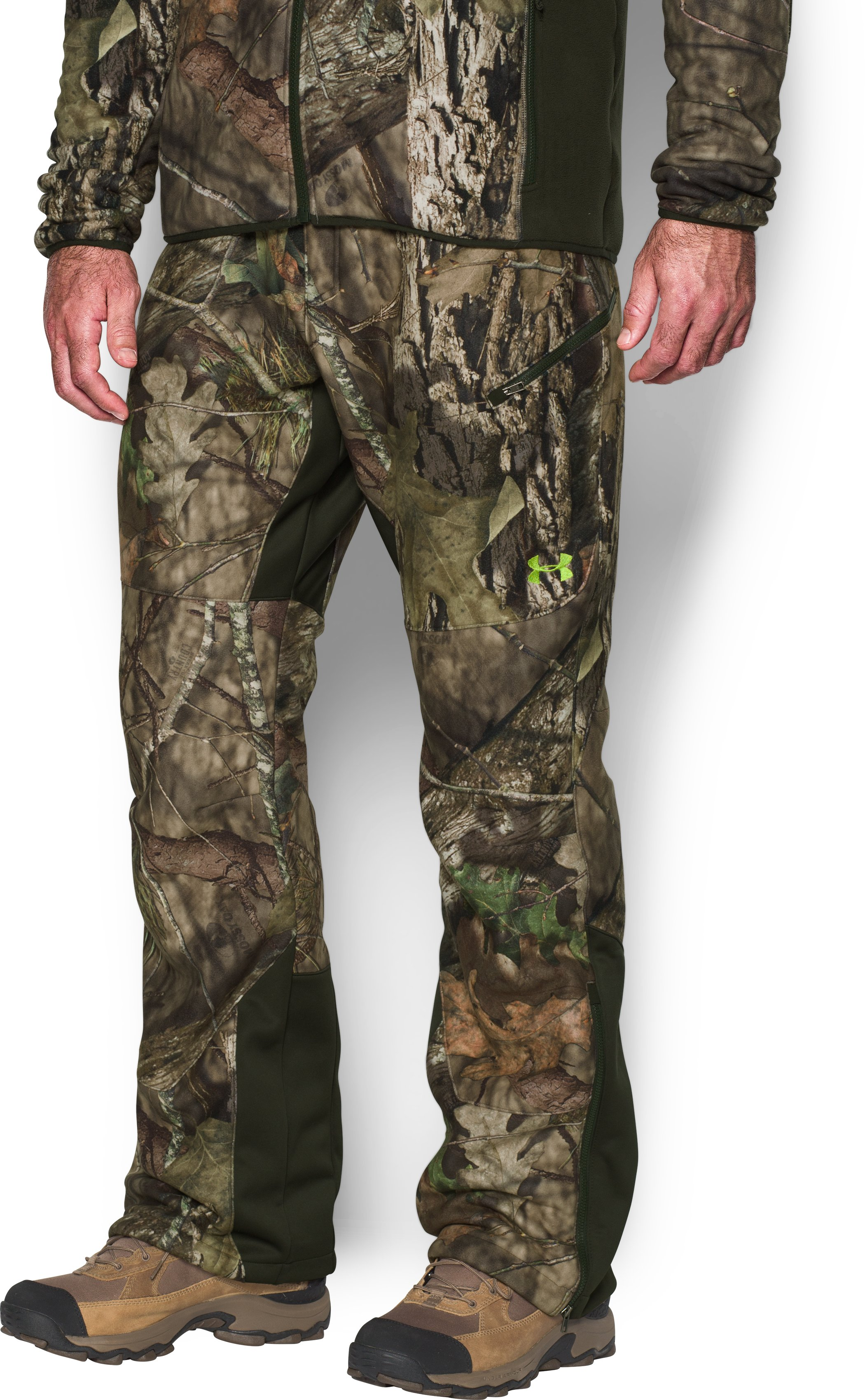 Men's UA Stealth Fleece Pants, MOSSY OAK BREAK UP COUNTRY