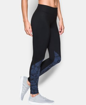 New Arrival Women's UA Mirror Stripe Floral Legging  1 Color $74.99