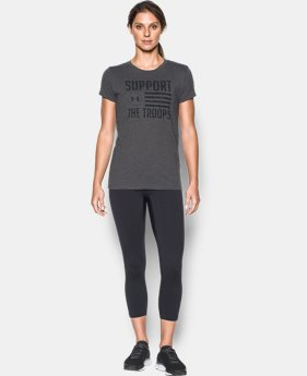 Women's UA Charged Cotton® Tri-Blend Support Troops T-Shirt  1 Color $22.99