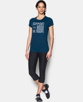 Women's UA Charged Cotton® Tri-Blend Support Troops T-Shirt  2 Colors $17.24