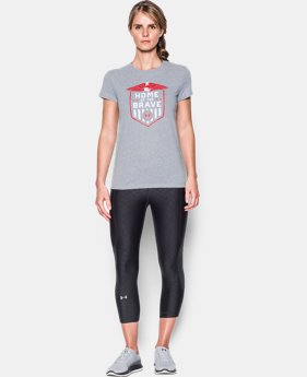 Women's UA Charged Cotton® Tri-Blend Home Of The Brave T-Shirt   $17.99