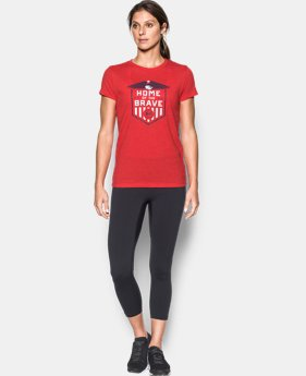 Women's UA Charged Cotton® Tri-Blend Home Of The Brave T-Shirt  1 Color $17.99
