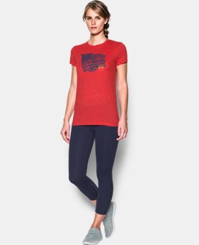 New Arrival Women's UA Charged Cotton® Tri-Blend Proud To Be T-Shirt  1 Color $29.99