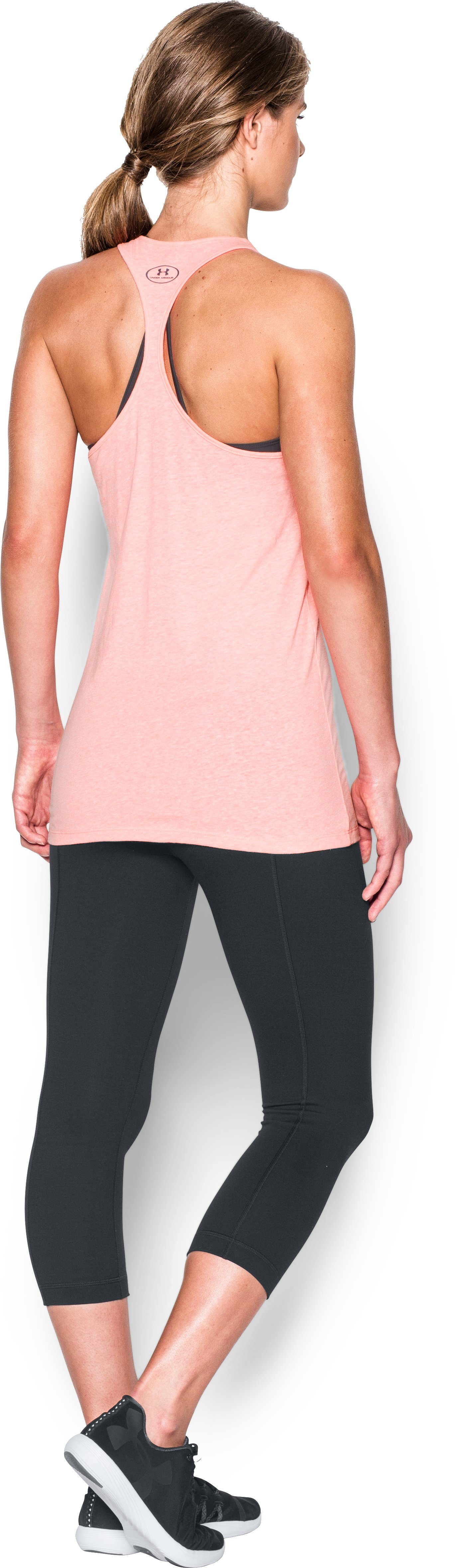 Women's UA Graphic Tank, BALLET PINK, Back