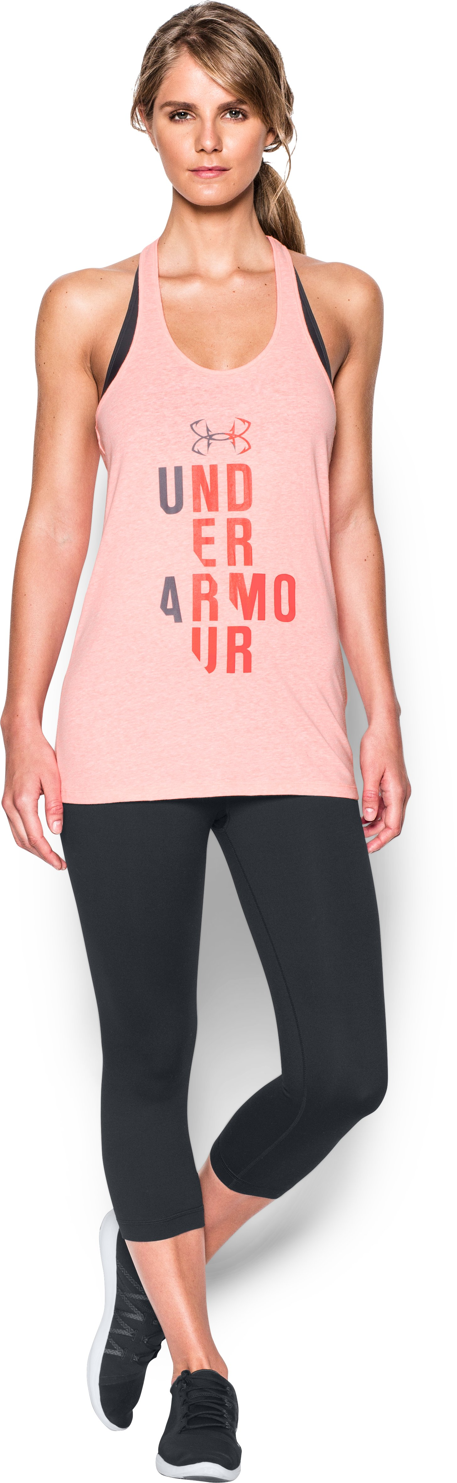 Women's UA Graphic Tank, BALLET PINK