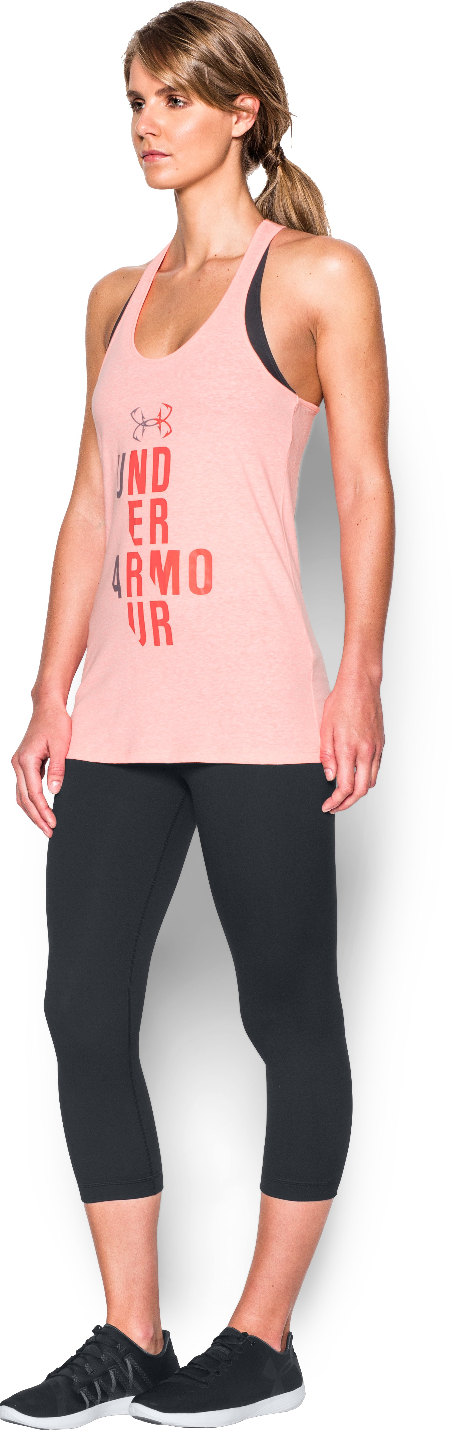 Women's UA Graphic Tank, BALLET PINK,