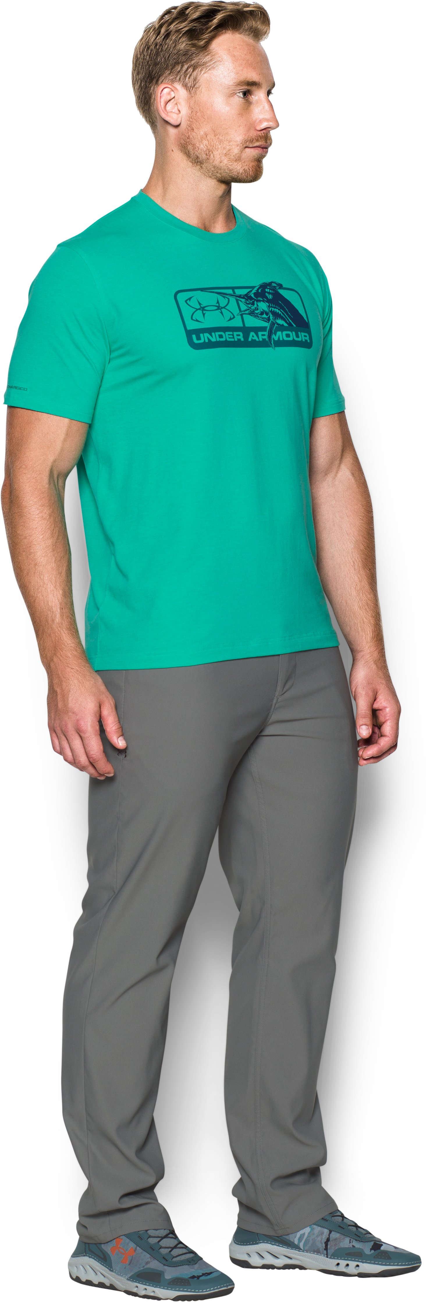 Men's UA Marlin Pill T-Shirt, ABSINTHE GREEN,