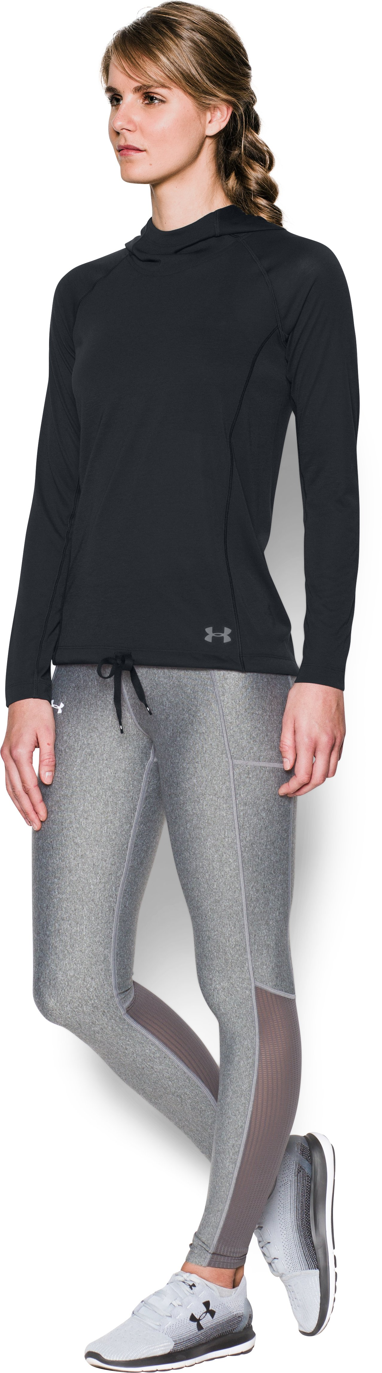 Women's UA Threadborne Train Hoodie, Black ,