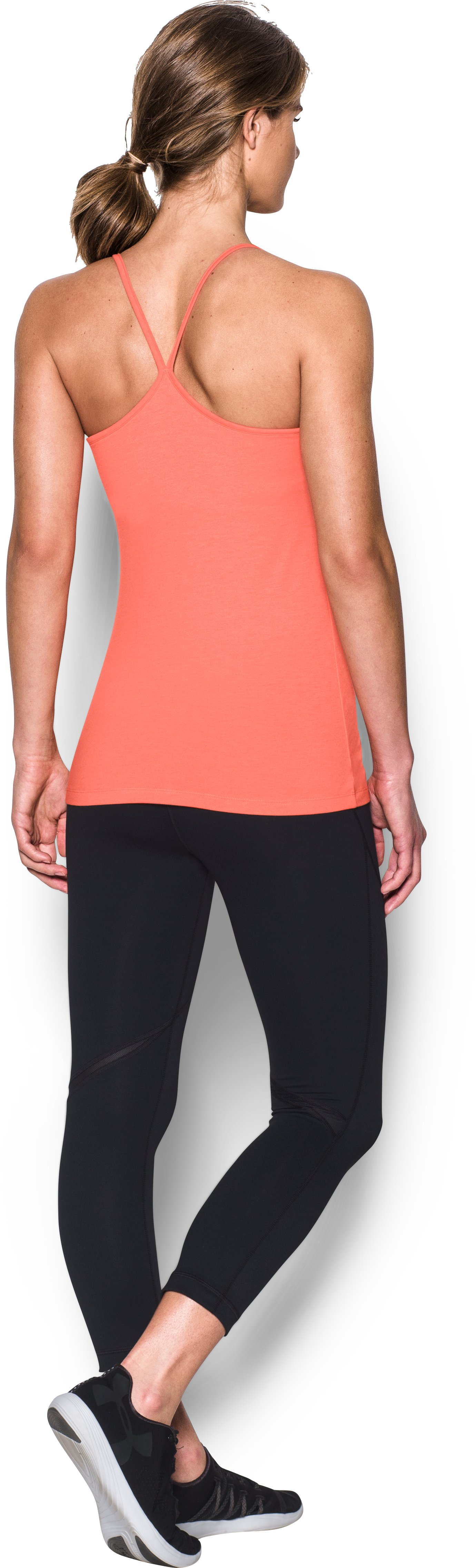 Women's UA Rest Day Cami, LONDON ORANGE, Back