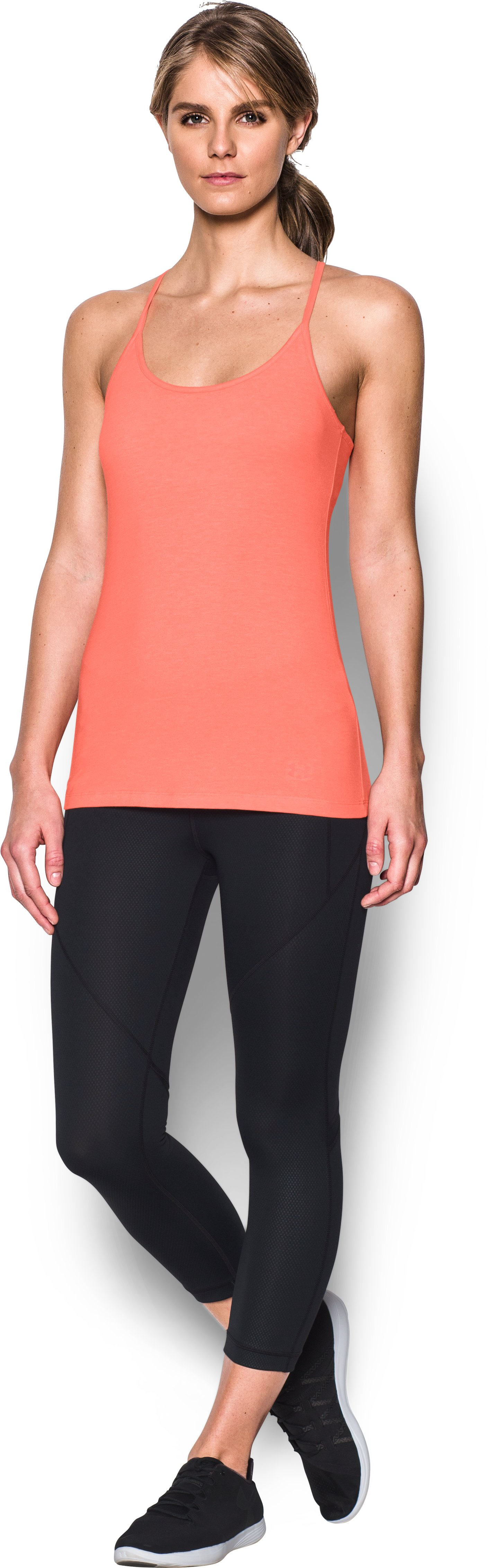 Women's UA Rest Day Cami, LONDON ORANGE, Front