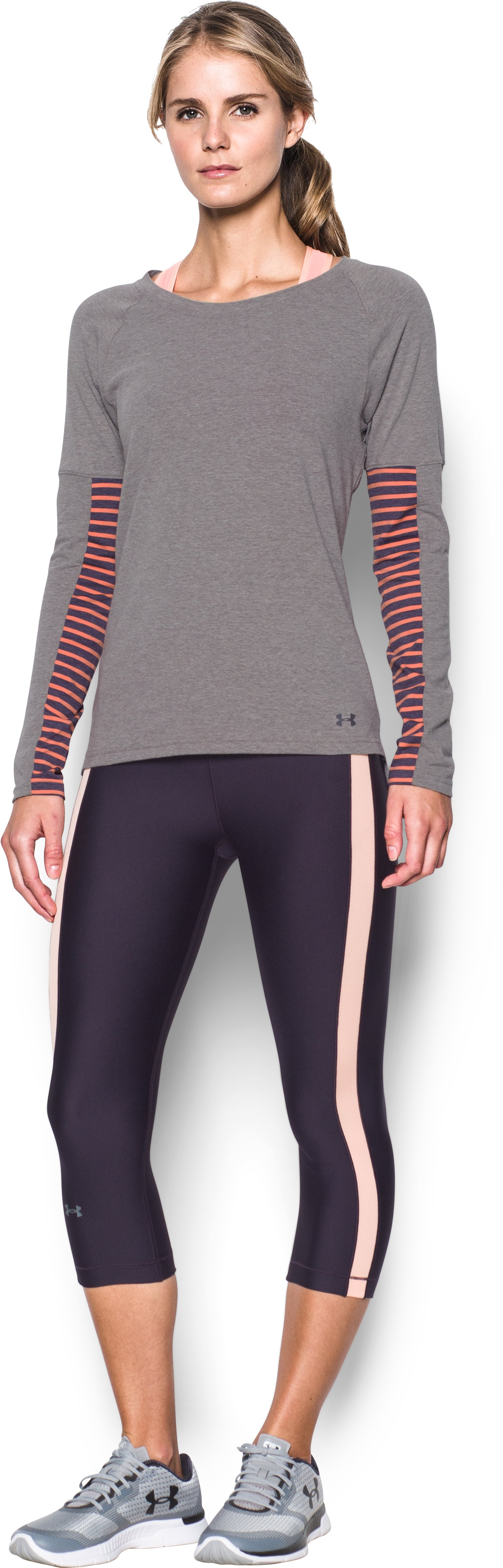 Women's UA Rest Day Long Sleeve, Carbon Heather