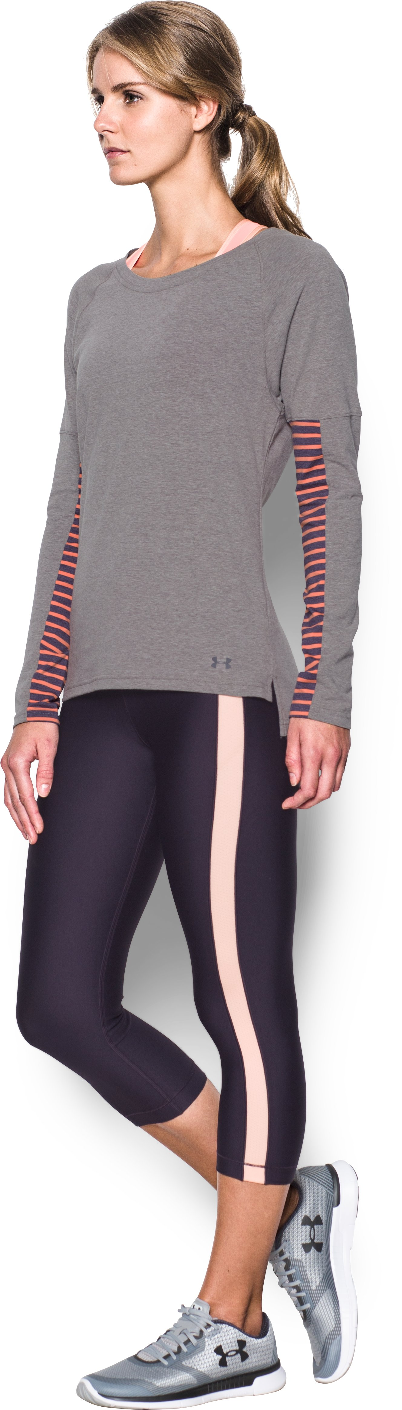 Women's UA Rest Day Long Sleeve, Carbon Heather,