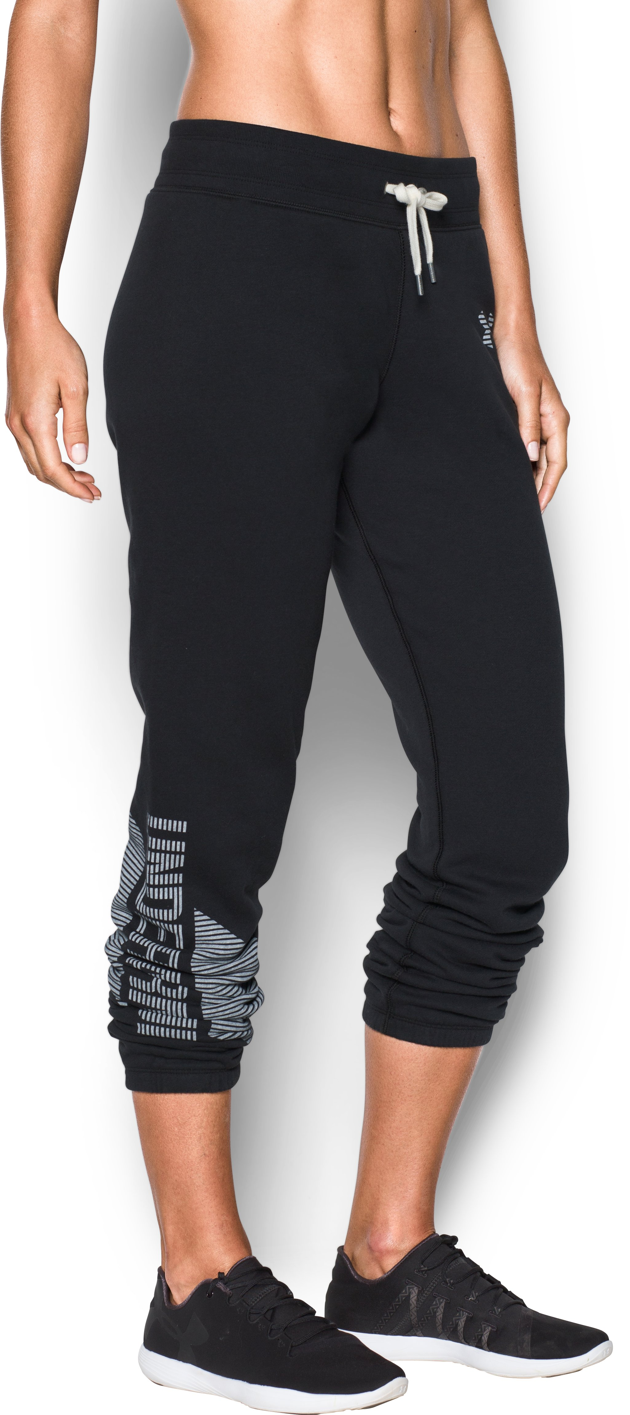 Women's UA Favorite Fleece Pants, Black ,