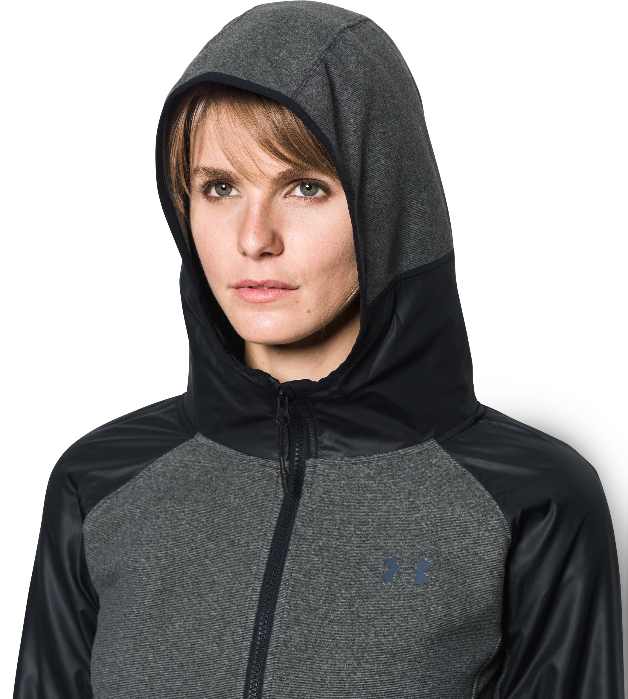 Women's UA ColdGear® Infrared Fleece Full Zip, Black , undefined