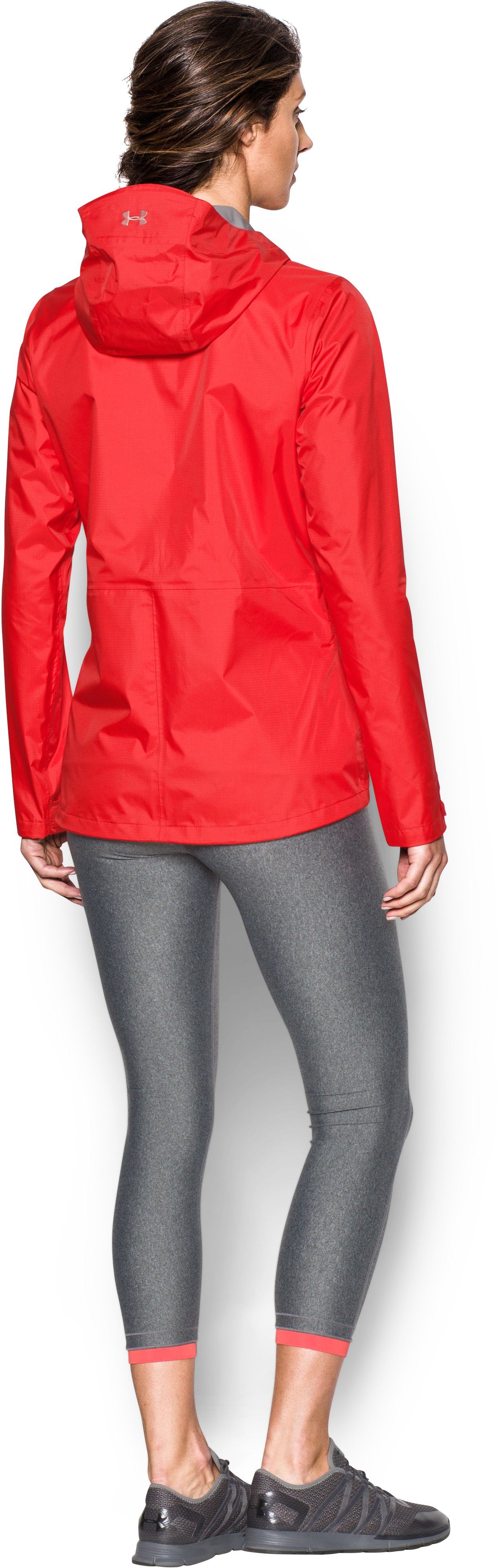 Women's UA Surge Jacket, Pomegranate, Back