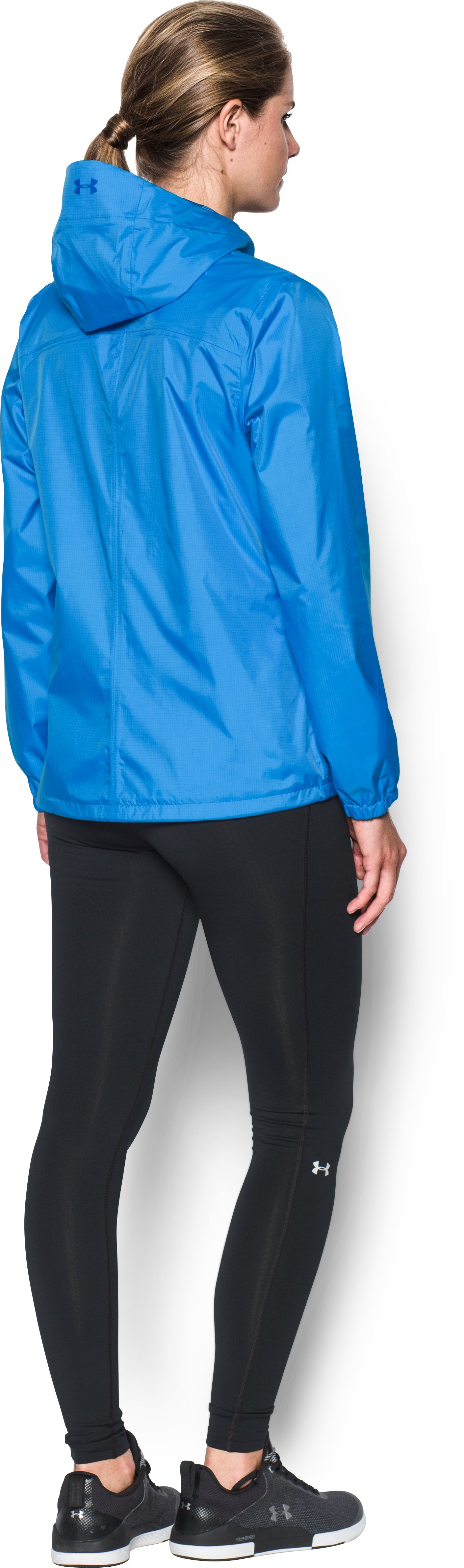 Women's UA Bora Jacket, MAKO BLUE, Back